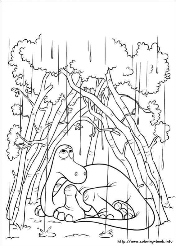 ภาพวาดระบายสีผจญภัยไดโนเสาร์เพื่อนรัก 22