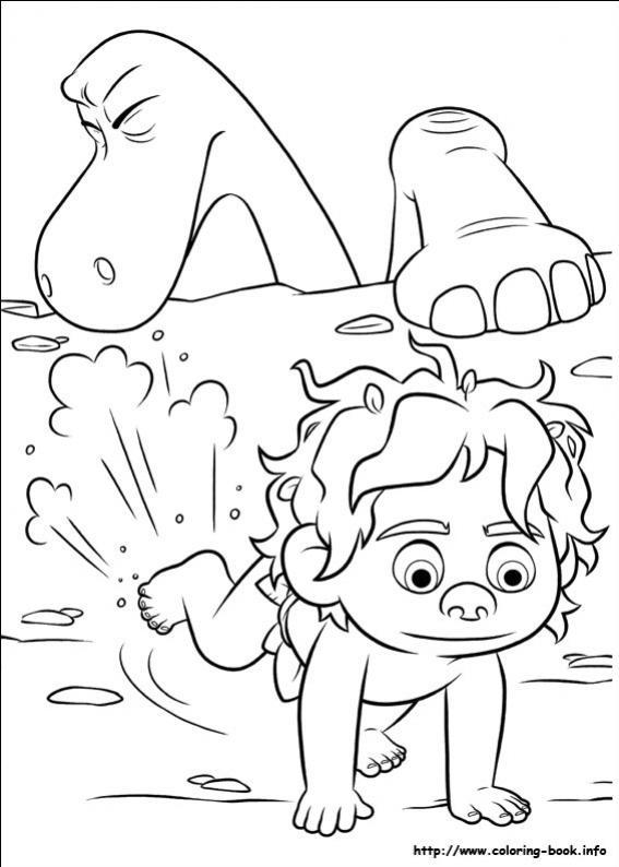 ภาพวาดระบายสีผจญภัยไดโนเสาร์เพื่อนรัก 17