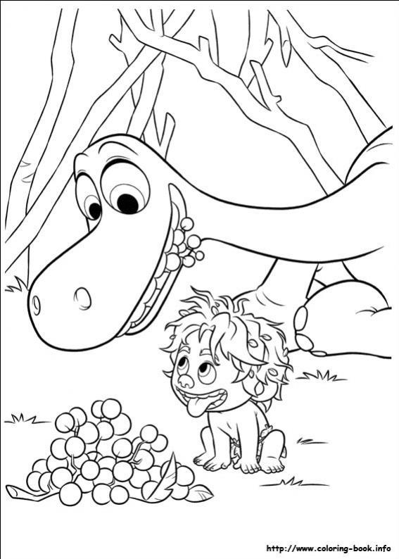 ภาพวาดระบายสีผจญภัยไดโนเสาร์เพื่อนรัก 24