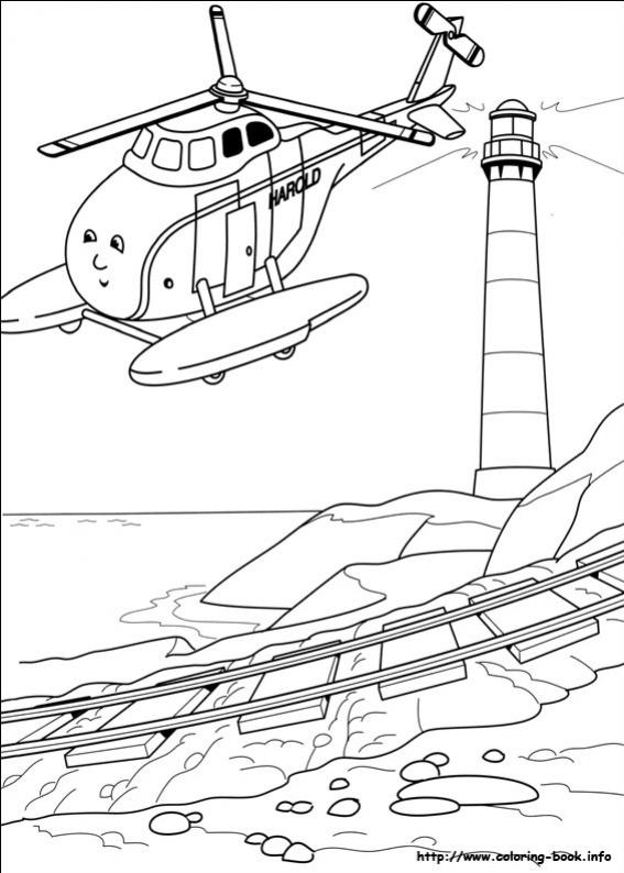 ภาพวาดระบายสีโธมัสยอดหัวรถจักร 32