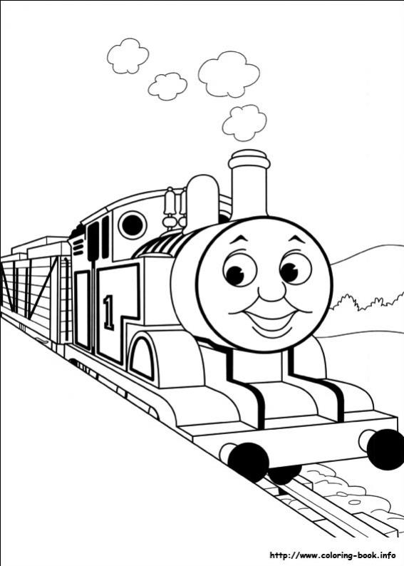 ภาพวาดระบายสีโธมัสยอดหัวรถจักร 36
