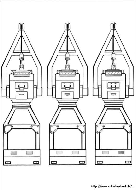 ภาพวาดระบายสีRobocar poli 32
