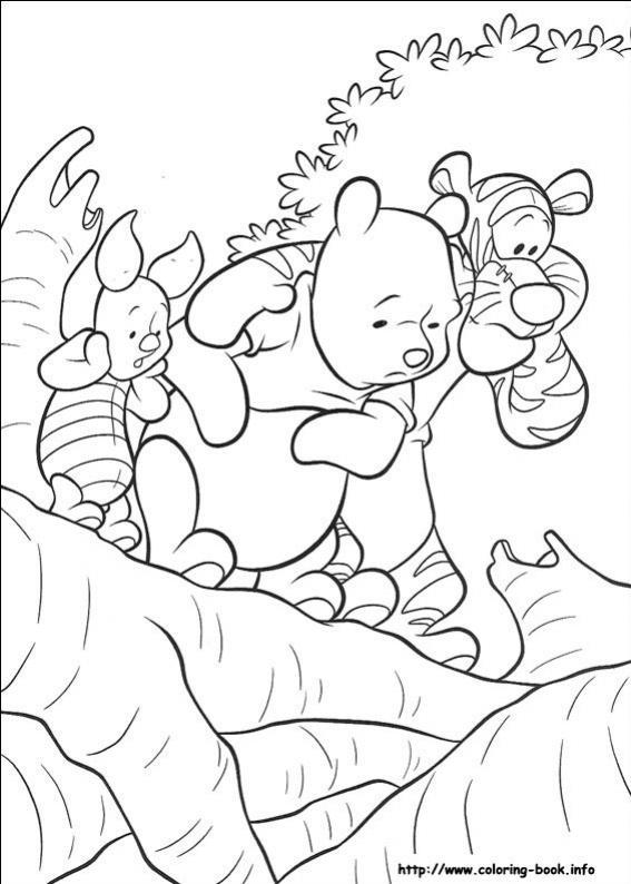 ภาพวาดระบายสีวินนี เดอะ พูห์ 07
