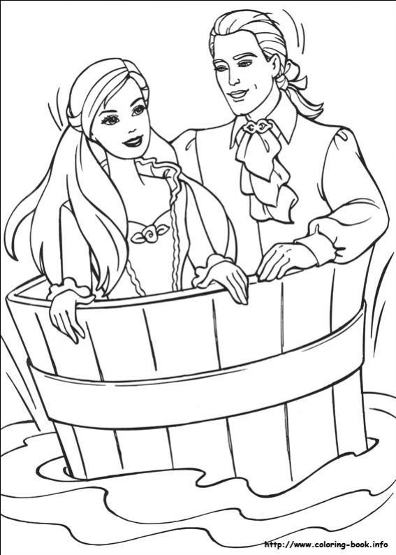 ภาพวาดระบายสีBarbie ตุ๊กตาบาร์บี้ 27