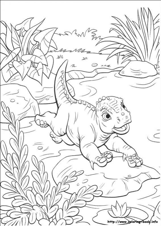 ภาพวาดระบายสีDinosaur 40