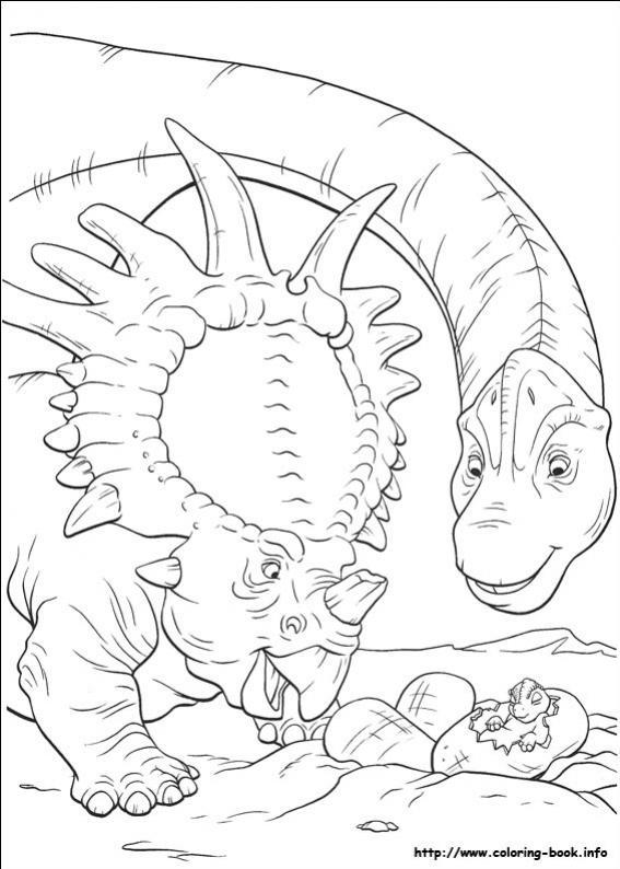 ภาพวาดระบายสีDinosaur 33