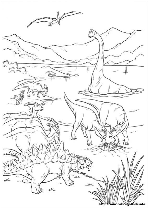 ภาพวาดระบายสีDinosaur 34