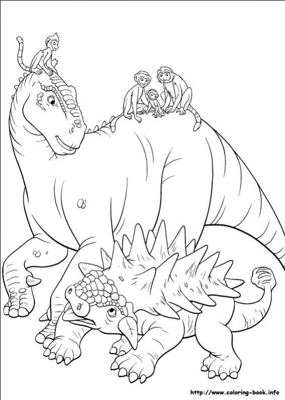ภาพวาดระบายสีDinosaur 42