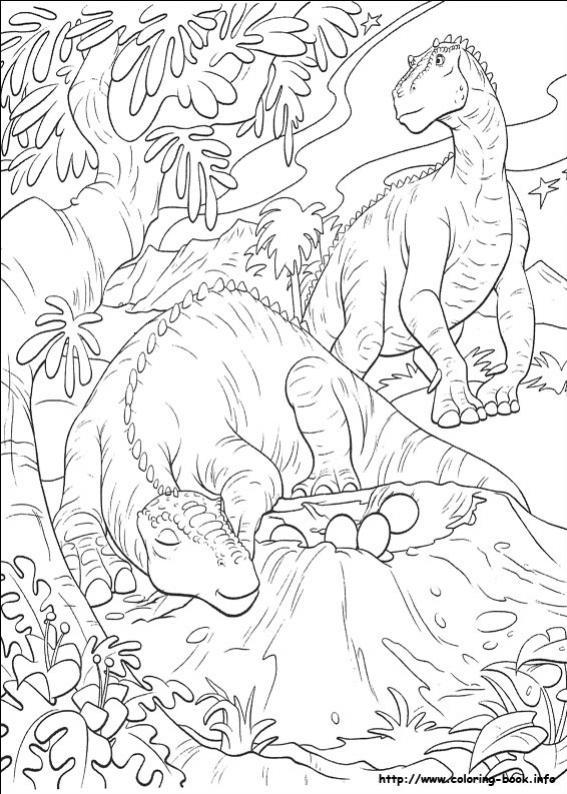 ภาพวาดระบายสีDinosaur 41