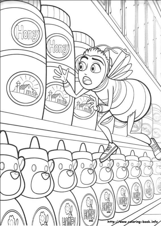 ภาพวาดระบายสีผึ้งน้อยหัวใจบิ๊ก 16