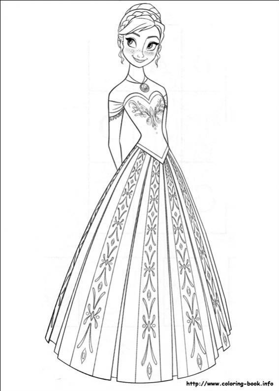 ภาพวาดระบายสีราชินีหิมะ 09