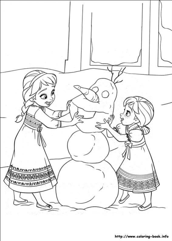 ภาพวาดระบายสีราชินีหิมะ 02