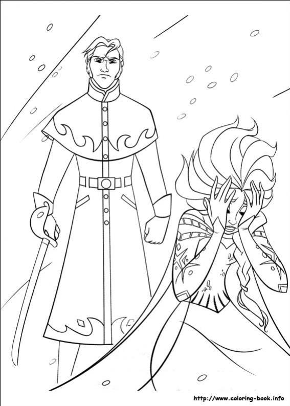 ภาพวาดระบายสีราชินีหิมะ 32