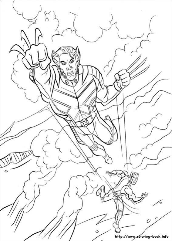 ภาพวาดระบายสีX-men 02