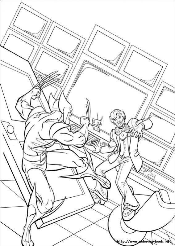 ภาพวาดระบายสีX-men 20