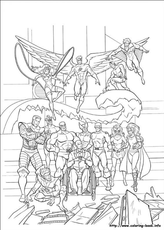 ภาพวาดระบายสีX-men 36
