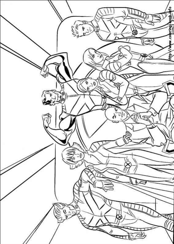 ภาพวาดระบายสีX-men 01