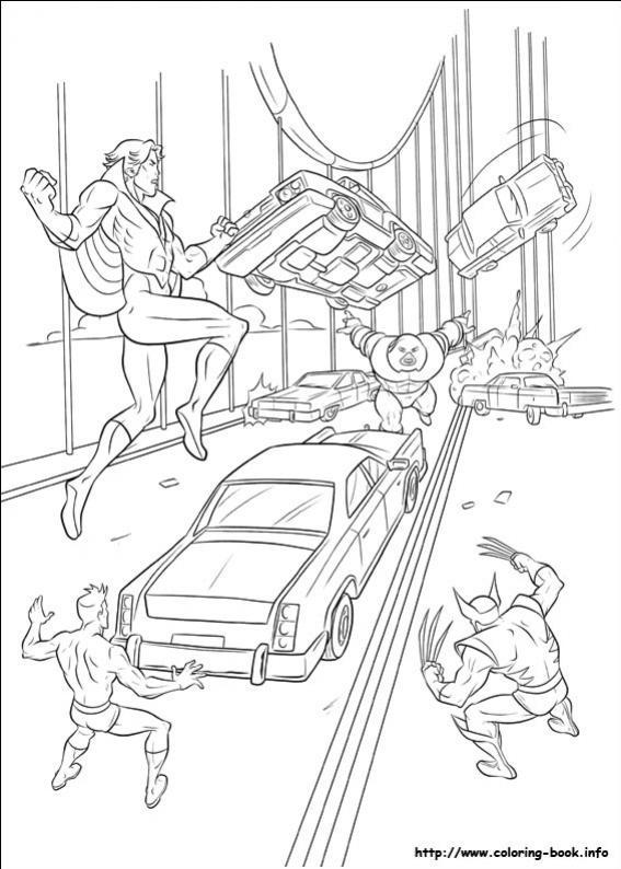 ภาพวาดระบายสีX-men 30