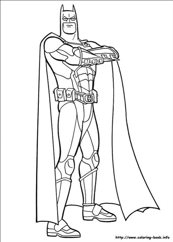ภาพวาดระบายสีBatman 12