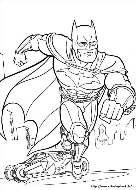 ภาพวาดระบายสีBatman 17
