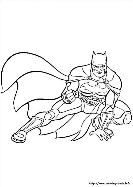 ภาพวาดระบายสีBatman 14