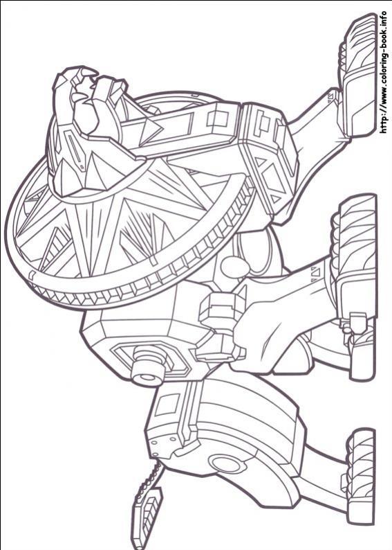 ภาพวาดระบายสีพาวเวอร์เรนเจอร์ 54