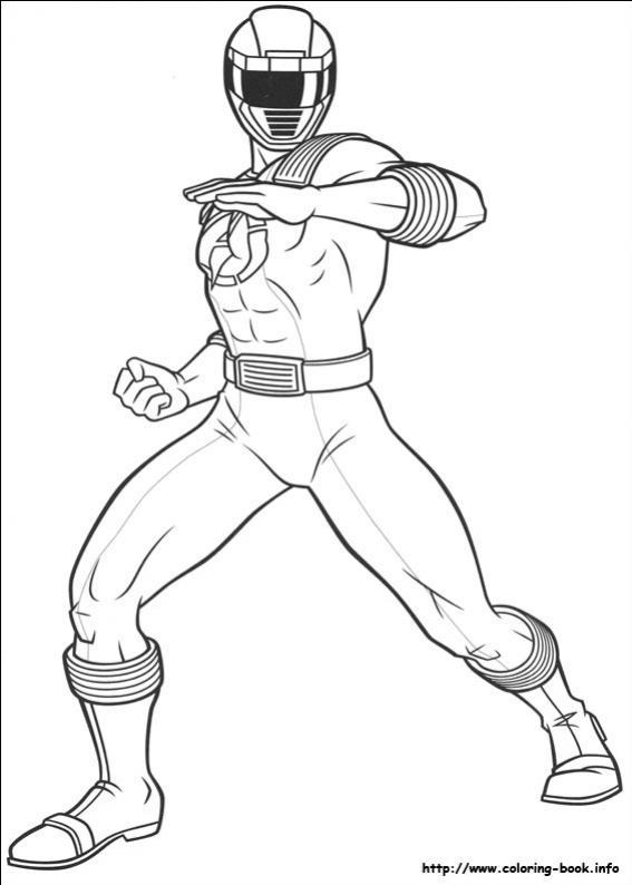 ภาพวาดระบายสีพาวเวอร์เรนเจอร์ 55