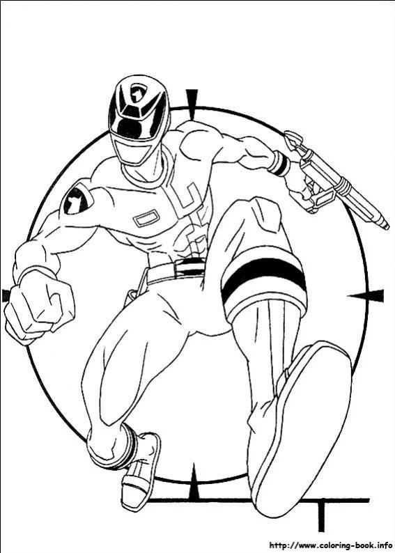 ภาพระบายสี Power Rangers พาวเวอร์เรนเจอร์ ขบวนการนักสู้ 5