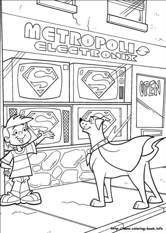 ภาพวาดระบายสีKrypto the superdog 59