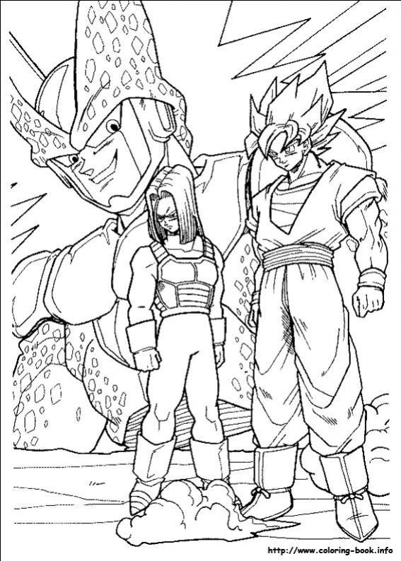 ภาพวาดระบายสีดราก้อนบอล ปีศาจเซล2