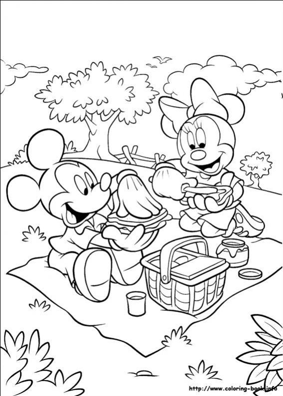 ภาพวาดระบายสีมิกกี้ เมาส์ 26