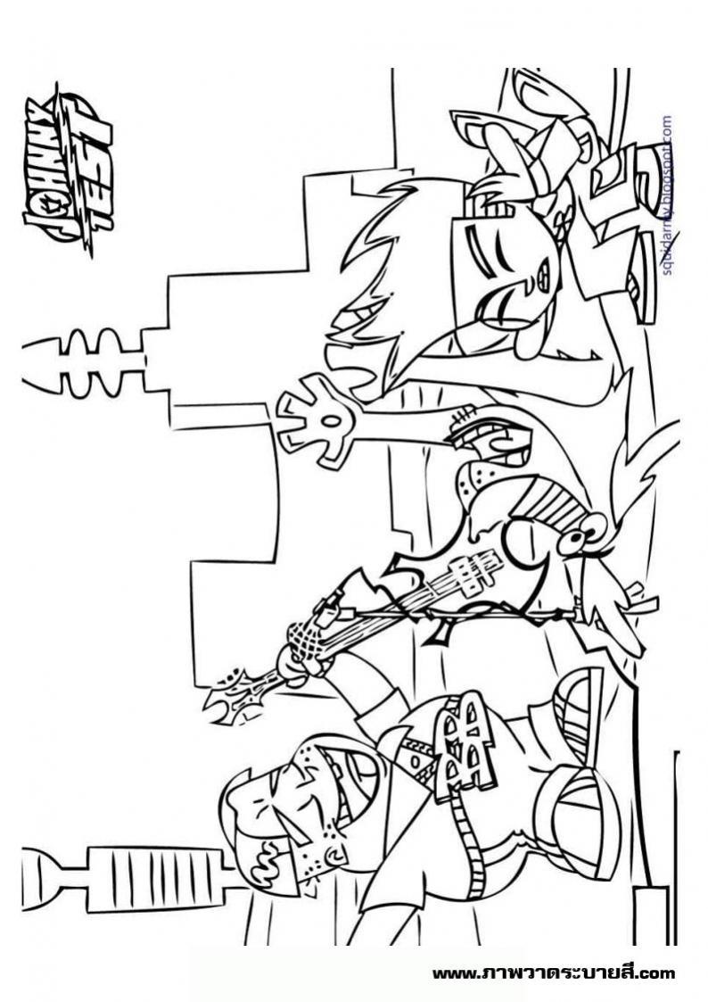 ภาพวาดระบายสีจอห์นนี่เทส 14