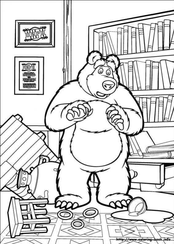 ภาพวาดระบายสีมาช่ากับพี่หมี 20