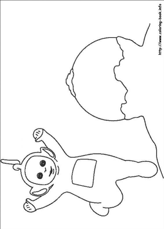ภาพวาดระบายสีTeletubbies เทเลทับบีส์ 19