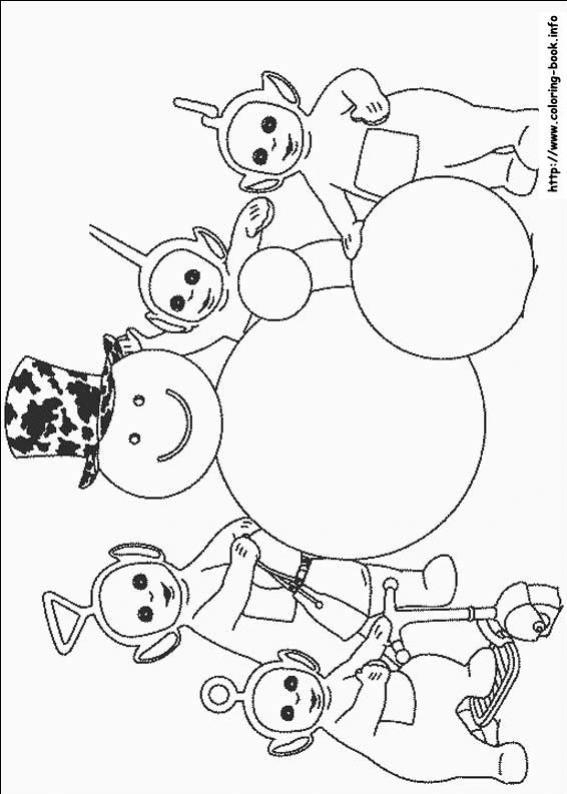 ภาพวาดระบายสีTeletubbies เทเลทับบีส์ 18