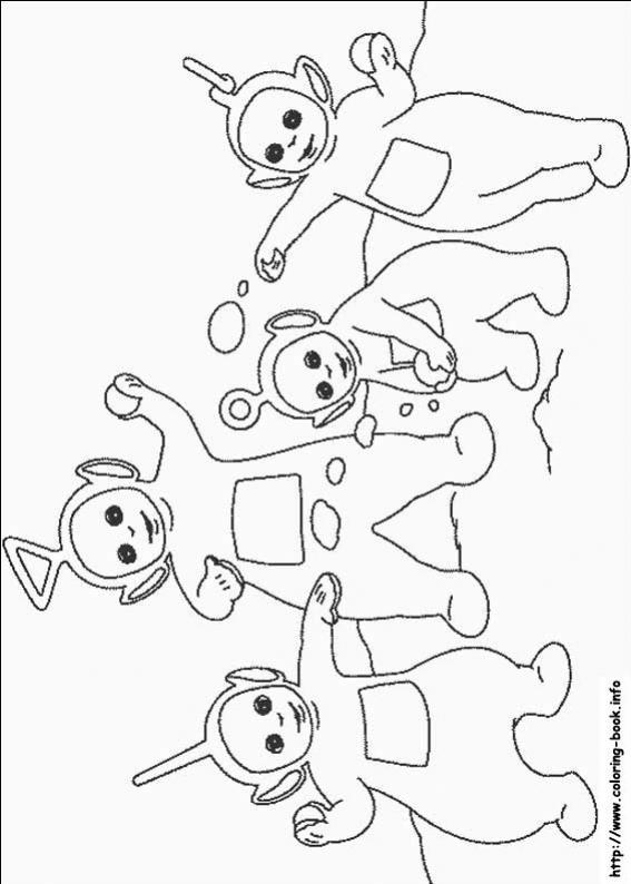 ภาพวาดระบายสีTeletubbies เทเลทับบีส์ 15