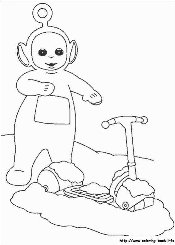 ภาพวาดระบายสีTeletubbies เทเลทับบีส์ 16