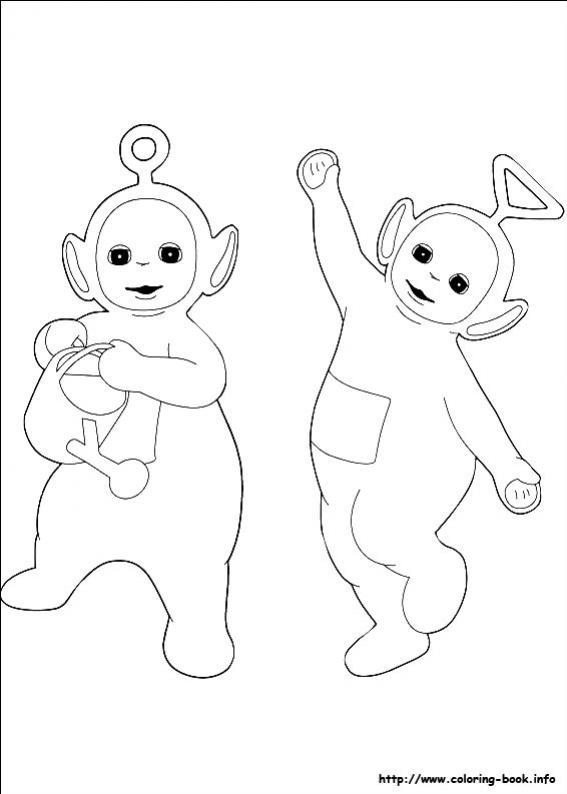 ภาพวาดระบายสีTeletubbies เทเลทับบีส์ 22