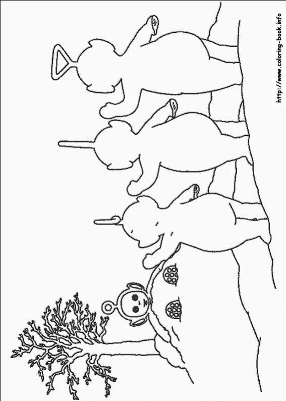 ภาพวาดระบายสีTeletubbies เทเลทับบีส์ 17
