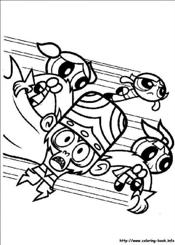 ภาพวาดระบายสีพาวเวอร์พัฟฟ์เกิลส์ 14
