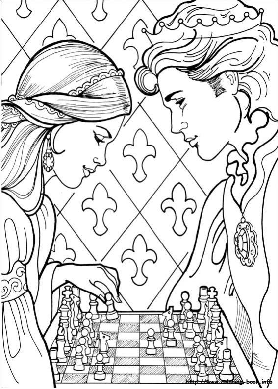 ภาพวาดระบายสีPrincess Leonora 22