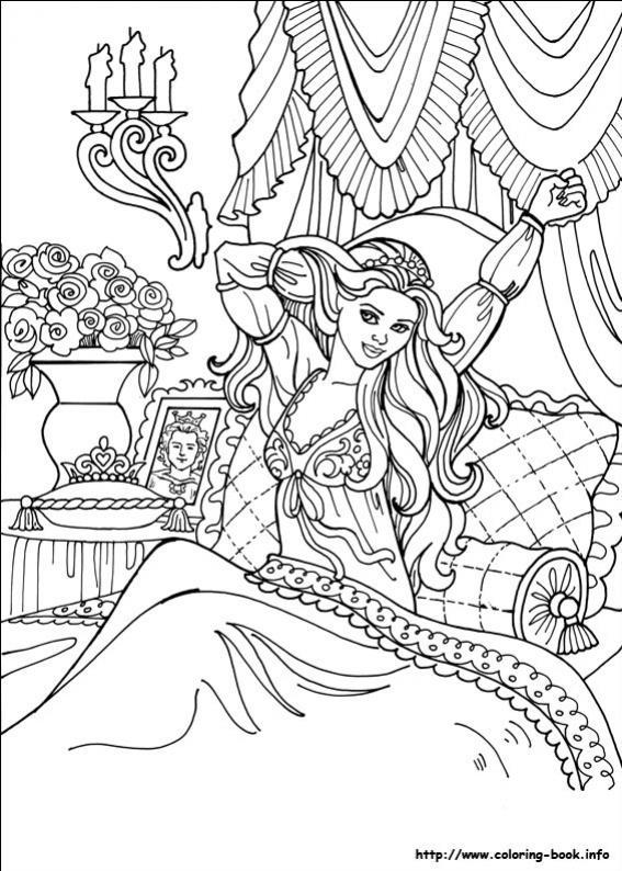ภาพวาดระบายสีPrincess Leonora 26