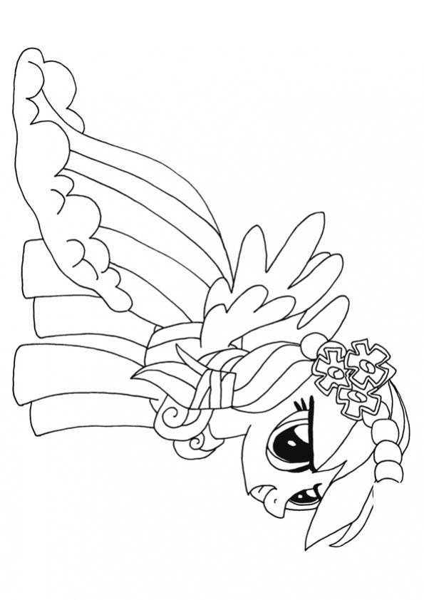 ภาพวาดระบายสีrainbow dash
