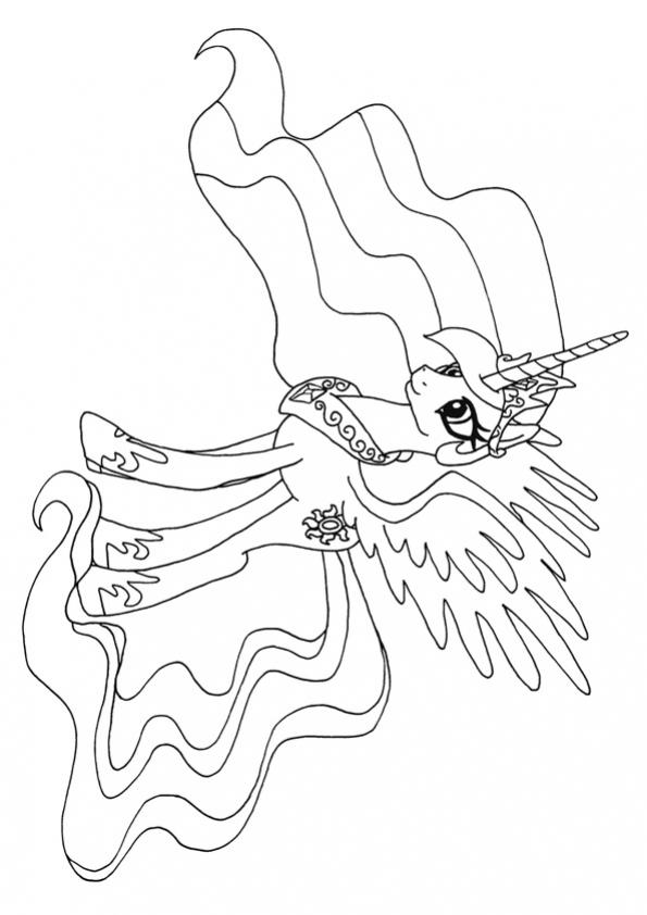 ภาพวาดระบายสีprincess celestia