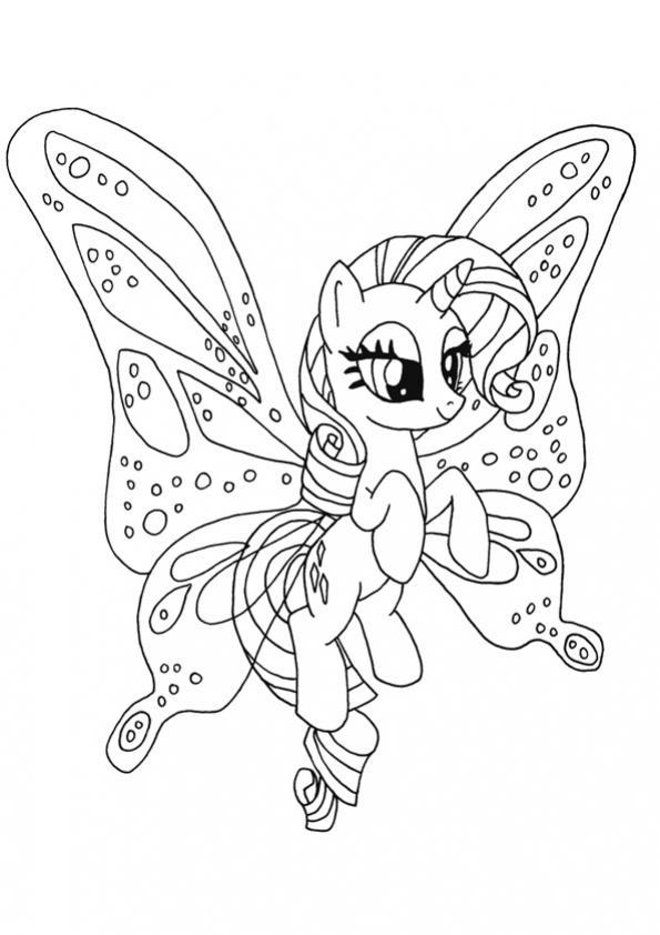 ภาพวาดระบายสีrarity pony