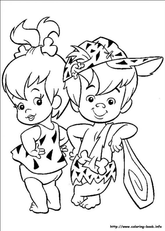 ภาพวาดระบายสีFlintstones 15