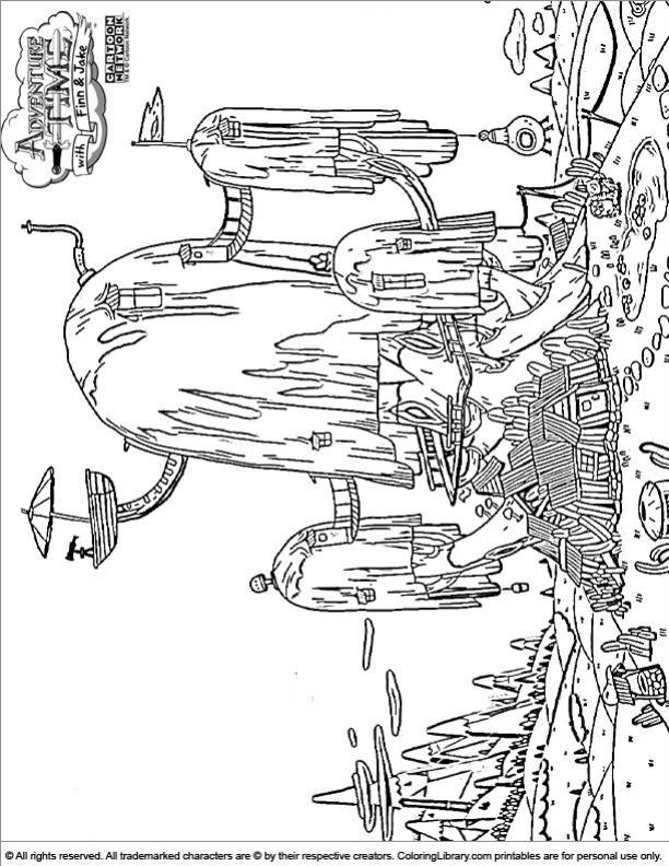 ภาพวาดระบายสีAdventure Time 04