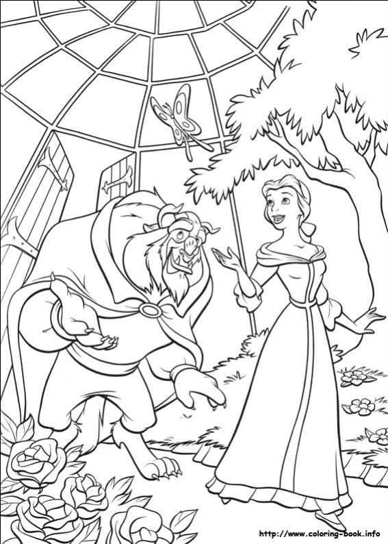 ภาพวาดระบายสีbeauty and the beast 28