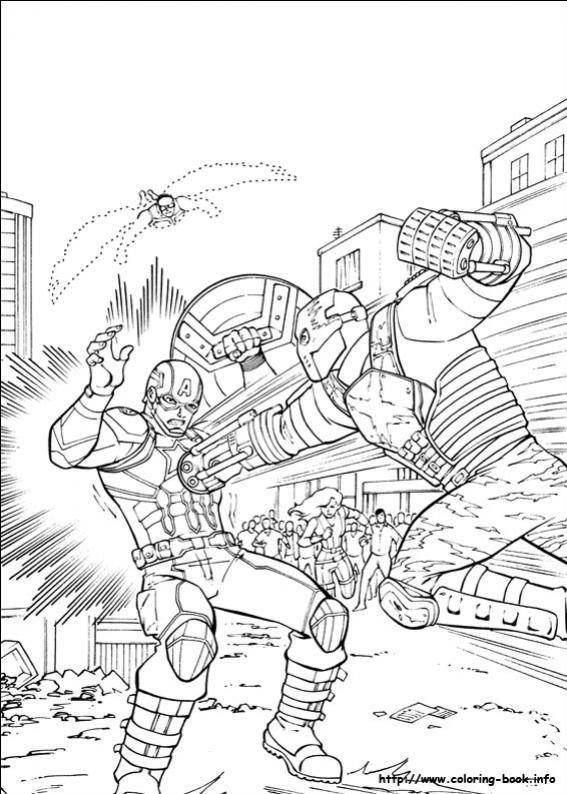 ภาพวาดระบายสีCaptain America 38