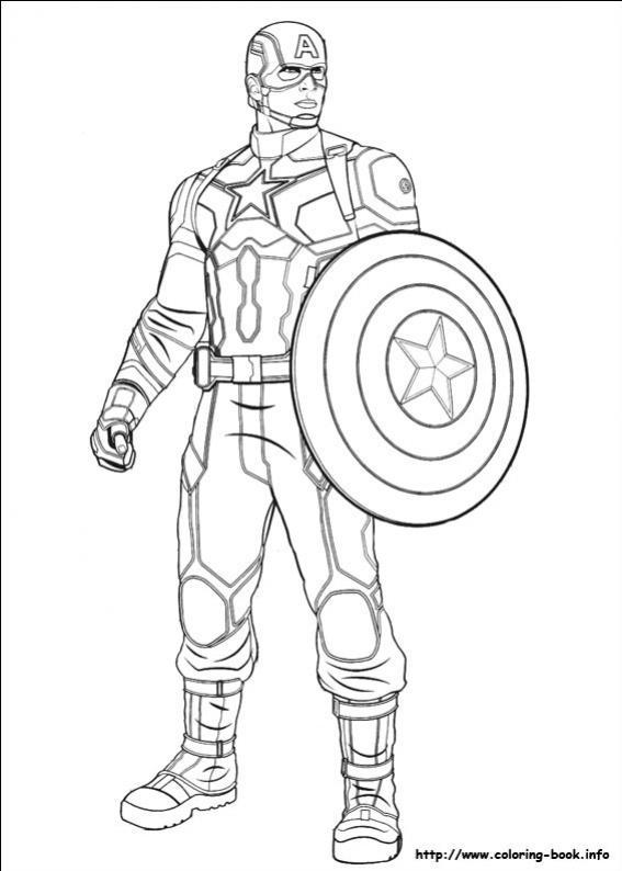 ภาพวาดระบายสีCaptain America 30